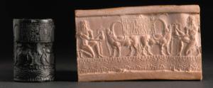 Sceau akkadien AO 22303, représentant des buffles d'eau