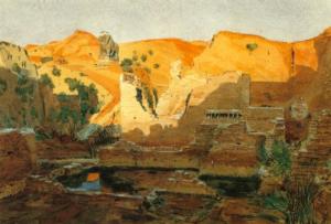 Babylone, aquarelle par Walter Andrae