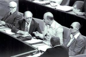 Yigal Yadin à la Knesset