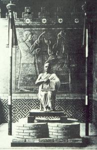 Léon Heuzey en Gudea au Louvre, 1886