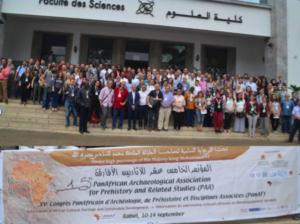 Une partie des congressistes posant à l'entrée de la Faculté des Sciences Mohamed V de Rabat