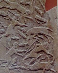 Détail de la bataille sur le fleuve Ulai (British Museum)
