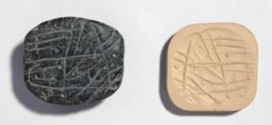 Exemple de cachet, IVe mill av. J.-C.