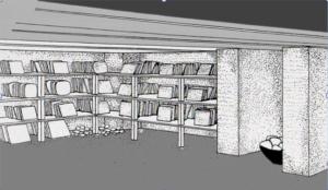 Restitution de l'archivage, Palais royal d'Ebla, env. ca. 2300-2250 av. J.-C.