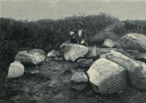 Photo du livre de Jane Suse, journal des fouilles (photo à p.115)
