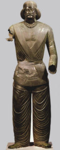Statue en bronze d'un dignitaire parthe. Téhéran, Musée National