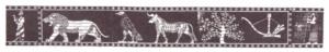 7 symboles sur le socle des temples du palais de Khorsabad (d'après Finkel et Reade 1996:fig.1)