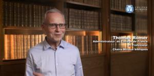 Le Professeur et Administrateur du Collège de France, Thomas Römer
