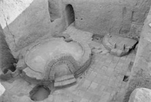 Cuisine du palais de Mari avec grand four (Margueron 2004)