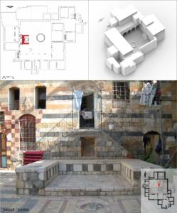 Figure 2: La maison al-Saqqā 'Amīnī: vue d'un maṣṭaba en forme de U dans la partie nord (© I. Fayyad)