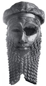 Tête de roi akkadien en bronze (Iraq Museum, Bagdad)