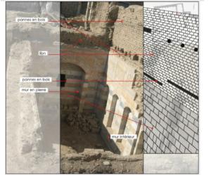 Figure 4. Construction en ṭūb/libn dans la demeure al-Šahbandar de Damas (XVI e -XVIIe siècle). © Imane Fayyad